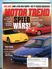Motor Trend Magazine August 2001 Speed Wars! EX 080916jhe