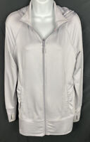 MONDETTA Womens Hoodie Size Medium Full Zip Hooded Jacket Pockets Herringbone