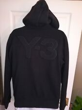 DESIGNER ADIDAS Y3 HOODIE BLACK WOOL MIX JACKET SIZE SMALL...GOOD COND   RRP £90