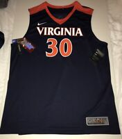 New Nike Men's Virginia Cavaliers UVA Elite Basketball Jersey XL $75 #30
