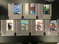 Nintendo NES 7 Game Lot - Super Mario Bros, Duck Hunt, Mission Impossible, Golf
