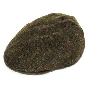 Failsworth Stornoway Harris Tweed Flat Cap - Green Check