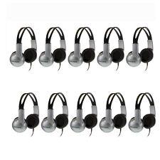 10 Pack Koss UR-10 Closed-ear Adjustable Stereo Headphones