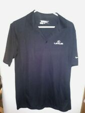 Nike Golf Mens Tour Performance Dri Fit Black Polo Shirt Lexus Embroidered  M