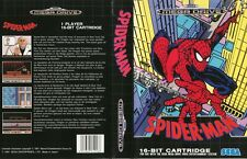 Spider-man King P Sega Mega Drive PAL Replacement Box Art Case Insert Cover Scan