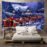 Weihnachten Tapisserie Strandtuch Wandteppich Wandbehang Yoga Matte Haus Deko GS