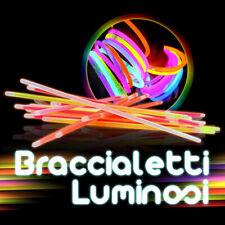 100 BRACCIALI LUMINOSI STARLIGHT FLUO fluorescenti glow stick dj notte dj  30301
