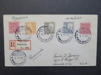 Sweden 1952 Arctic Expedition Cover / Registered - Z7887