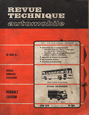 RTA revue technique automobile n° 290 RENAULT SAVIEM SG2 SG4 SG 2 4  1970