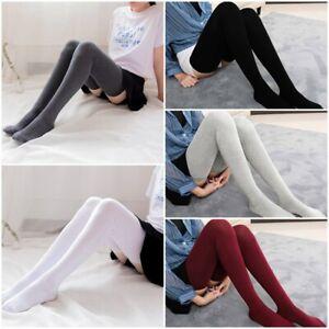 Women Knee Socks Cotton Thigh High Over The Knee Stockings Girls Warm 80cm Socks