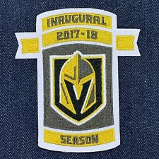 "LAS VEGAS GOLDEN KNIGHTS INAUGURAL SEASON 2017-2018 JERSEY PATCH IRON ON 3.5""X4"
