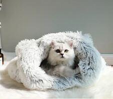 New Warm Pet Dog Cat House Sleeping Bag Bed Sofa Tent Cushion Grey