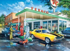 Jigsaw Puzzle Vehicle Pop's Quick Shop Ford Mustang Chevrolet Z28 1000 piece NEW