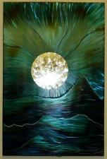 Blue Moon Mount Metal Pared Arte Escultura de Acero Moderno mano hecha a mano peculiar Panel