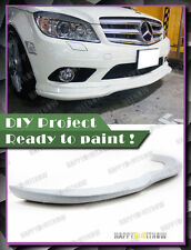 PRIMED 08-11 Pre-Facelifted Mercedes Benz W204 4D AMG PACKAGE C type FRONT LIP