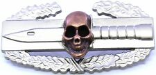 SKULL Combat Action Badge Army CAB Military Airborne Insignia Pin