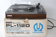 Pioneer PL-112D Stereo Turntable Hi-Fi Separate Record Player - BOXED - SERVICED