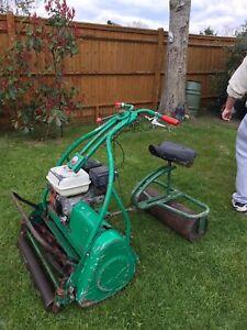 vintage petrol lawn mower