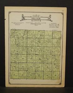 Iowa Chewkee County Map Silver Township 1923  W14#35