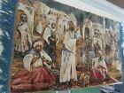 """Vintage Velvet Wall Tapestry Mid / Middle Eastern Bazaar 37""""x21"""" Arabian Nights"""