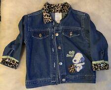 Baby Snoopy Girls Denim Jacket Infant Size 24 Months