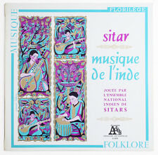 INDIA NATIONAL SITAR ENSEMBLE music of India french ades florilege 13059 LP EX+