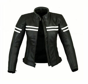 Ladies Motorcycle Leather Jacket Women Motorbike Jacket Black