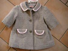 (J38) Gefütterter Cacharel Baby Mantel Winterjacke in A-Form mit Taschen gr.62