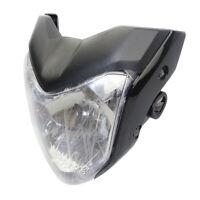 Tête de Fourche Plaque Phare Route Universel de Moto Noir Pour Yamaha