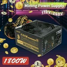 More details for 1800w quiet modular mining power supply psu for 8 gpu eth rig ethereum miner