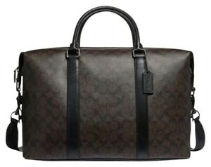 COACH Brown Leather Unisex Voyager Duffle Bag - Original Price $598.00