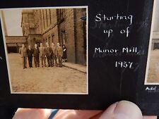 MANOR MILL X3  PHOTOGRAPHS  i THINK Manor Woollen Mills, MANO CHADDERTON OLDHAM,