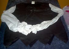 Pirate Costume Top Shirt Lace up Halloween Childs Kids Free USA Shipping!