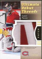 CAREY PRICE 2007-08 UD Ultimate Collection Debut Threads Patch Rookie #25/50 WOW