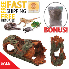 Reptile Cage Decoration Climbing Tree Bark Cave Hideout for Lizard Iguana Snake