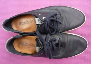 Ecco Dark Blue Buttery Soft Leather Casual Shoes / Trainers Size UK 11 / EU 45