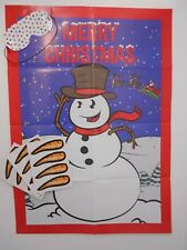 Christmas Pin The Nose On The Snowman Party Games Stocking Filler MULTI PLAYER