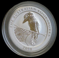 2008 2 oz Silver Australian Kookaburra Coin BU - Rare and Flawless »LOW MINTAGE«