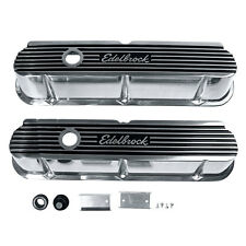 Edelbrock 4264 Valve Cover Tall Chrome Elite II Pair 289/302/351W