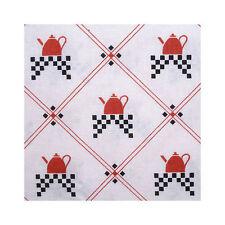 Japanese Linen Fabric Retro Kitchen Kettle Red White FQ