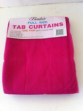 Hot Pink Mosquito Net Sheer Tab Curtain - 150cm x 240cm 1 Pair