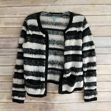 Olivia Sky Womens Size PM Sweater Open Front Cardigan Fuzzy Long Sleeve