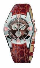 New Mens Roberto Cavalli R7251616055 Diamond Chronograph Date Crocodile Watch