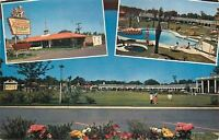 Savannah GA~Howard Johnson's Motor Lodge & Restaurant~Pool 1957 Postcard