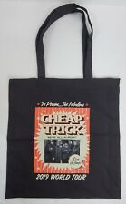 Cheap Trick 2019 World Tour Tote Carry Book Bag Black Red White 14.5 x 15 inch
