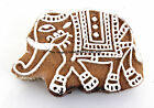 Indian Wood Stamps Elephant Brown Handcarved Printing Block Textile Wooden Stamp
