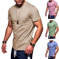 Jack & Jones Herren Kurzarmshirt T-Shirt Basic Shirt Sommershirt Freizeitshirt