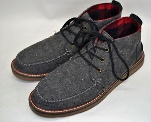 Toms Mens Grey Size 11.5 Lace Up Casual Ankle Boots (BB)
