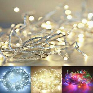 LED Outdoor Waterproof Battery Christmas Lights String Fairy Xmas Tree Bedroom