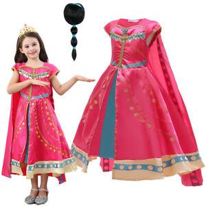 Girls Arabian Princess Kids Fancy Dress Jasmine Childs Fairytale Costume